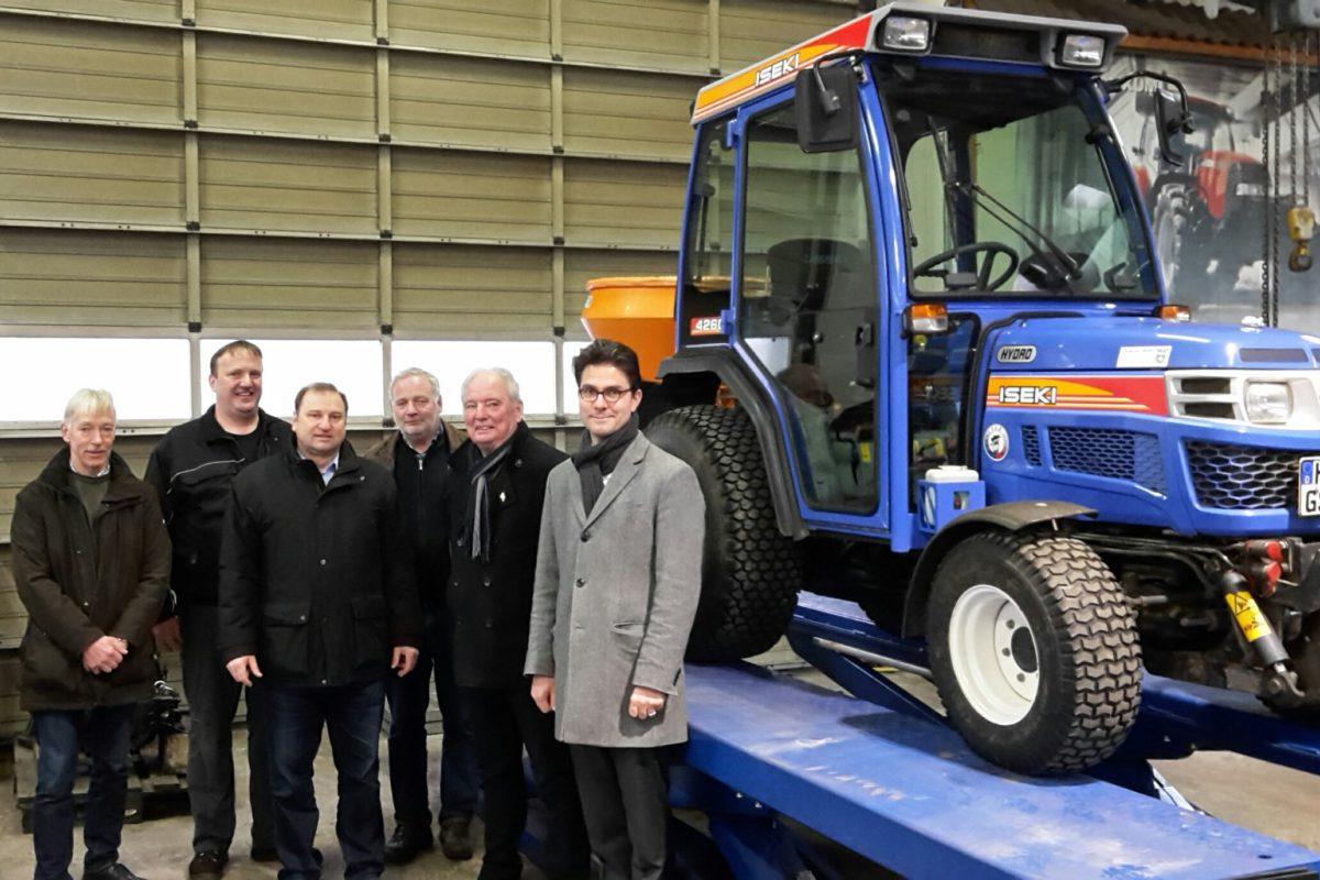 Besuch bei der Firma Jürgen Adler, Landmaschinen- und Kraftfahrzeugwerkstatt in Süderhastedt, 2. Februar 2017