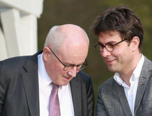 Mark Helfrich mit Volker Kauder