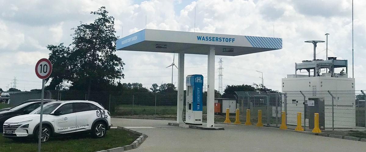 Wasserstofftankstelle von Wind2Gas Energy in Brunsbüttel